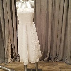 J. Crew white strapless dress 10 NWT